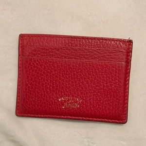 100% authentic red gucci cardholder leather